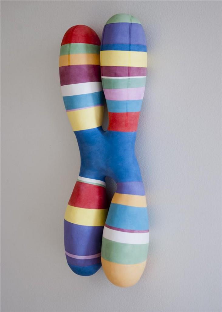 ceramic sculpture, contemporary ceramics, chromosome, Chicago ceramic artist, chromosome painting, scientific art