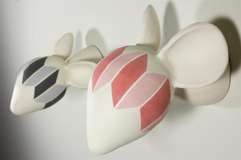 mice, skulls, ceramic, Gestalt, experiments, rhomboids, science