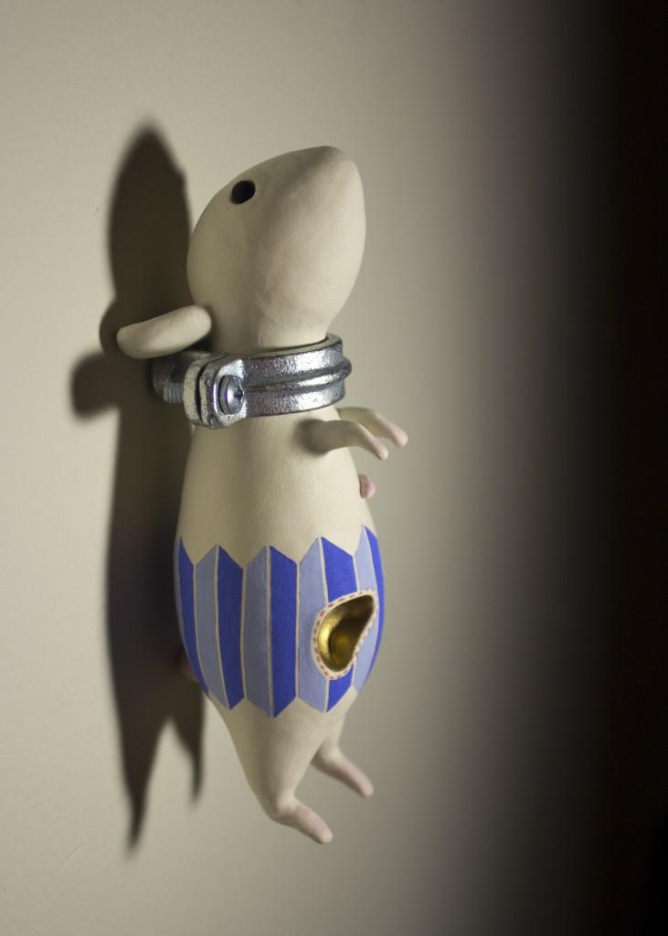 chicago ceramics, postnatural art, ceramic sculpture, chicago sculpture, Prometheus, ceramic sculpture, medical, mouse, dieffenbach, mixed media, Chicago artist, science, art, Chicago ceramics, ceramic sculpture, art, experiment, mice, post-natural, Chicago ceramics