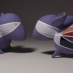 purple mice, ceramic sculpture, obbie and lenny part 1