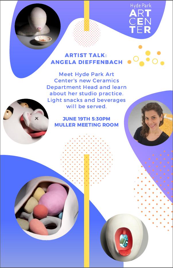 Ceramics Artist Talk, Chicago Ceramics, HPAC, Hyde Park Art Center, Angela Dieffenbach, Artist Talk