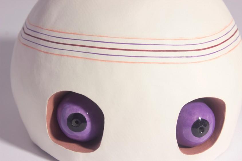 Head Transplant, postnatural art, ceramic sculpture, chicago sculpture, postnatural, ceramics, chicago artists, glaze, medical art, frog heart, frog, heart, organs, contemporary ceramics, ceramic art, ceramic sculpture